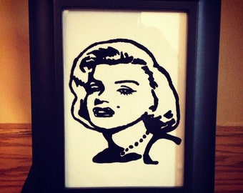 Marilyn Monroe Painted picture frame