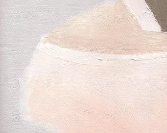 Abstract Painting Print, Pastel Art Print, Pink and Gray Art, Abstract Art on Paper, Pink Painting Detail