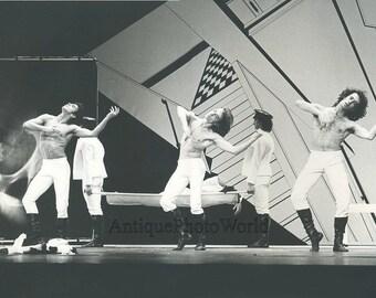 Ballet dancers modern dance vintage art photo