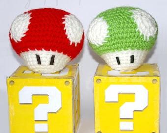 Amigurumi Mushroom // Toad // 1up
