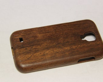 Samsung Galaxy S4 wood phone case brown walnut