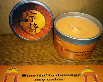 Sci-Fi character Scented 8oz  Soy Candle in tins - SET