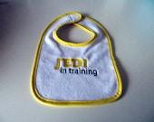 Embroidered Jedi in Training Bib
