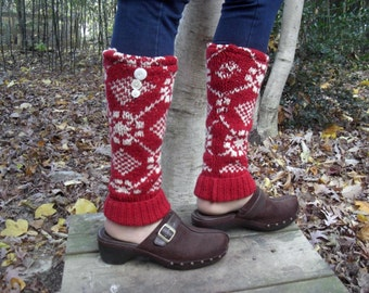 Upcycled, Recycled, Refashioned Red Leg Warmers