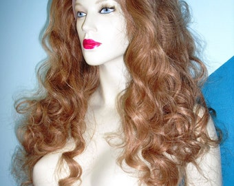 Full Lace Wig Wigs 100% Human Hair Indian Remi Remy Wavy Light Brown #12 Choose Length and Texture
