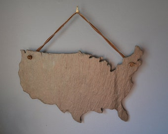 USA Slate Wall Hanging -United States Map Hanging