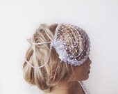 Bridal Birdcage, Mini  wedding Veil, Rhinestone Head Piece, Wedding Headband, Fascinator , Wedding Veil, Wedding Accessories