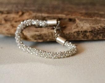 Art Deco Rhinestone  Bracelet,  Wedding Jewelry, Flower Girl Gifts, Bridesmaid Gift, Wedding Accessories