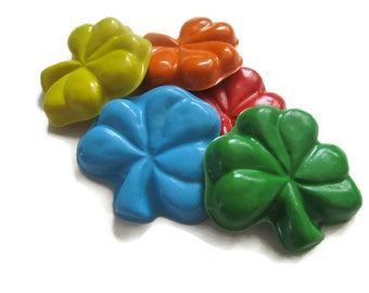 Shamrock Crayons set of 40 - St Patricks Day Crayons - Irish Crayons - Clover Crayons