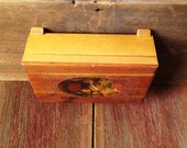 Sweet Vintage Mini Cedar Chest with Floral Decoupage