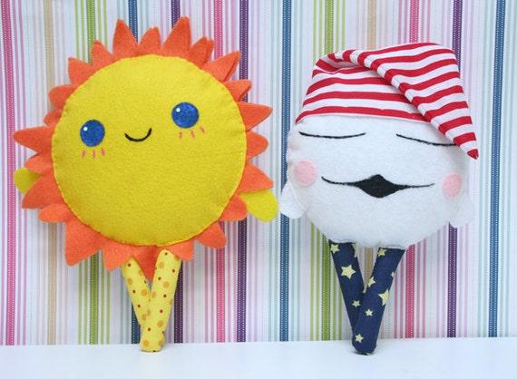 cloud nursery nursery decor sun moon baby toy by thecrystaltree. Black Bedroom Furniture Sets. Home Design Ideas