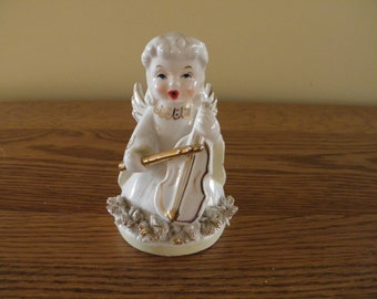 Fifties Angel with Cello and Spaghetti Trim