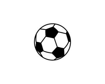"2x2"" Soccer Ball Vinyl Decal Set of 3"