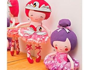 "Simplicity  1341, 22"" Stuffed Ballerina Doll Sewing Pattern"