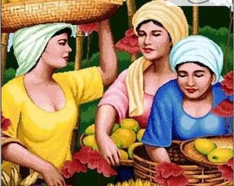 Filipino Art-Fruit Vendor Ladies - PDF Pattern