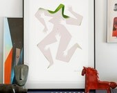 Touch me 1. lllustration art giclée print signed by hand. Everybody needs some love. A2 poster.