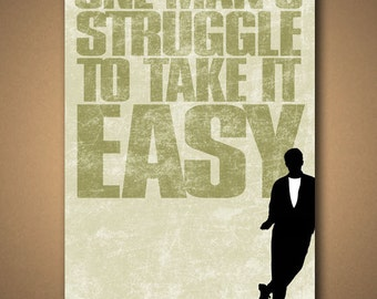 FERRIS BUELLER One Man's Struggle To Take It Easy POSTER
