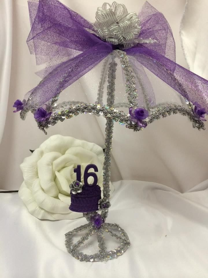 Sweet umbrella parasol centerpiece table topper decoration
