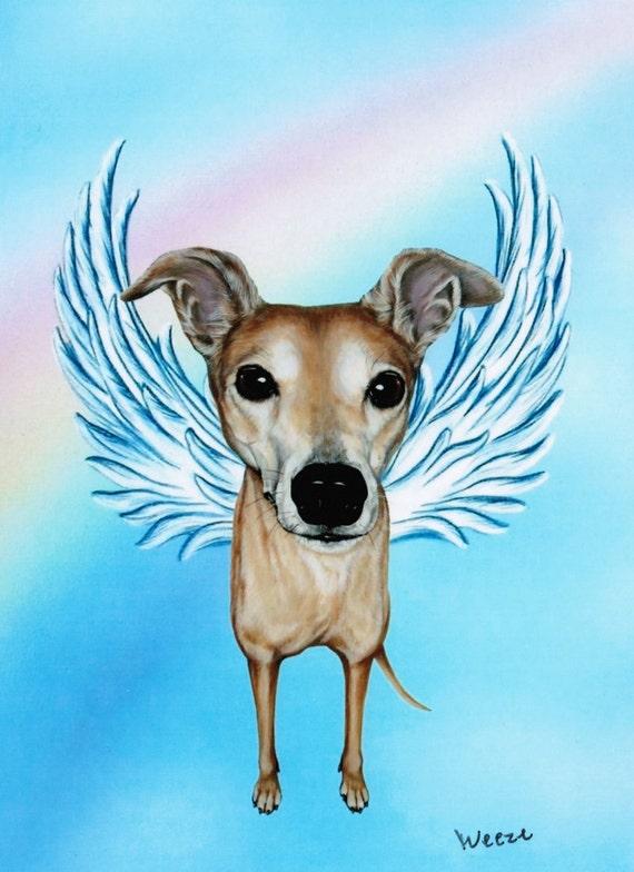 Greyhound Greyhound Angel Greyhound Art Dog Angel By
