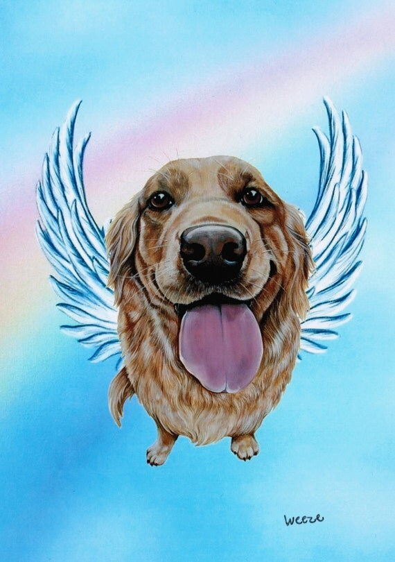 Golden Retriever Angel Golden Retriever Golden By Artbyweeze