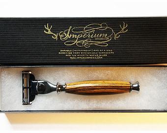 Hand-turned razor handle BOCOTE