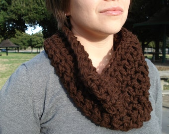 Crochet Cowl - Dark Brown