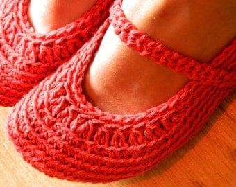 Instant download - PDF crochet pattern - Women crochet slipper # 43