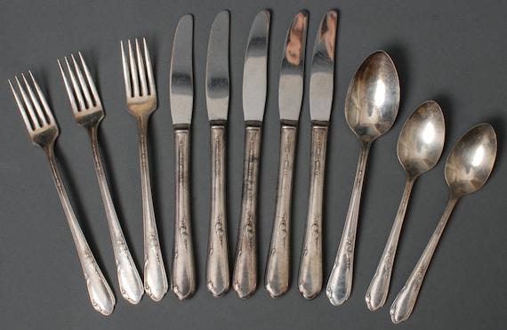 1881 Rogers Flatware Lot Silver Plate Wm A Rogers
