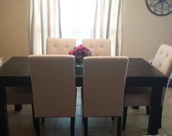 Reclaimed Wood Dining Table, Upcycled, Louisiana (Small)