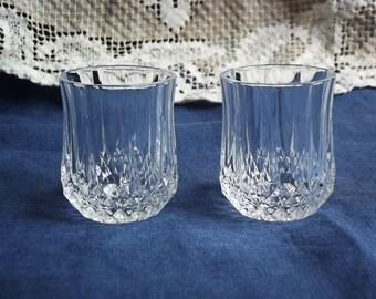 Pair of Swedish Vintage Crystal Small Glasses.