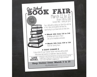 Custom Printable Book Fair School Flyer