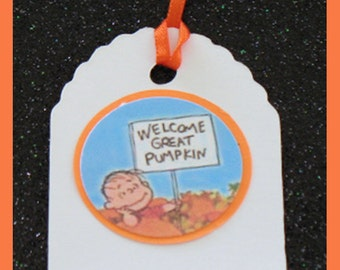 Charlie Bown and the great Pumpkin gift tags, It's the great pumpkin gift tags, set of 10