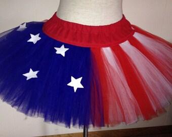 Adult American Flag Stars and Stripes TuTu