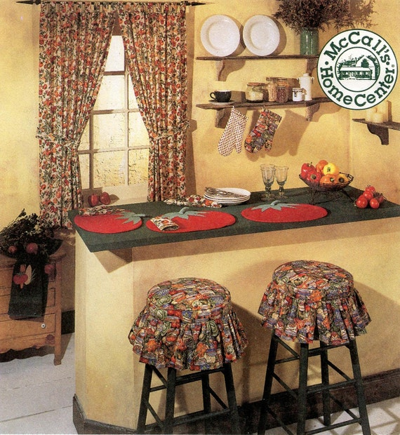 Sewing Kitchen Curtains: McCall's Sewing Pattern 8088 Kitchen Curtains, Placemats