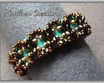 "Beaded bracelet - ""Geometrica"" - tutorial"