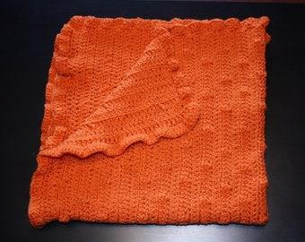 Orange bobble blanket