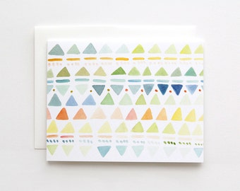 Small Triangles in Multi- A2 Greeting Card