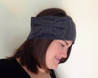 Large Bow Ear Warmer - Adult