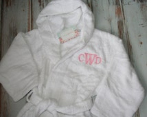 Kids Personalized Terry Cloth Hooded Robe
