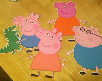 Peppa Pig, Family and Friends 4 Inch qty: 8