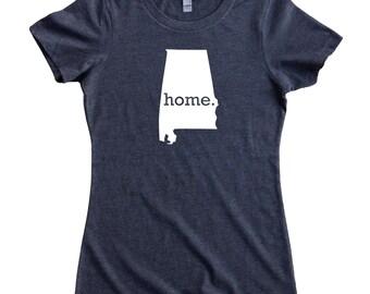 Homeland Tees Alabama Home State Women's T-Shirt