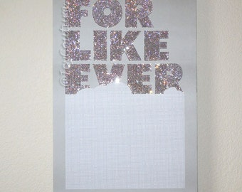 "36"" X 24"" FOR LIKE EVER Framed Canvas with Swarovski Crystals"