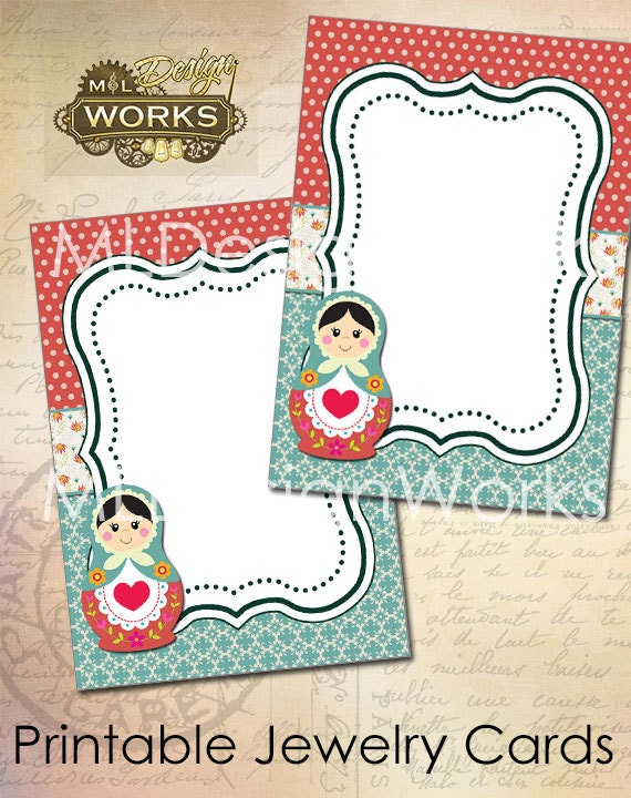 Légend image inside printable jewelry tags