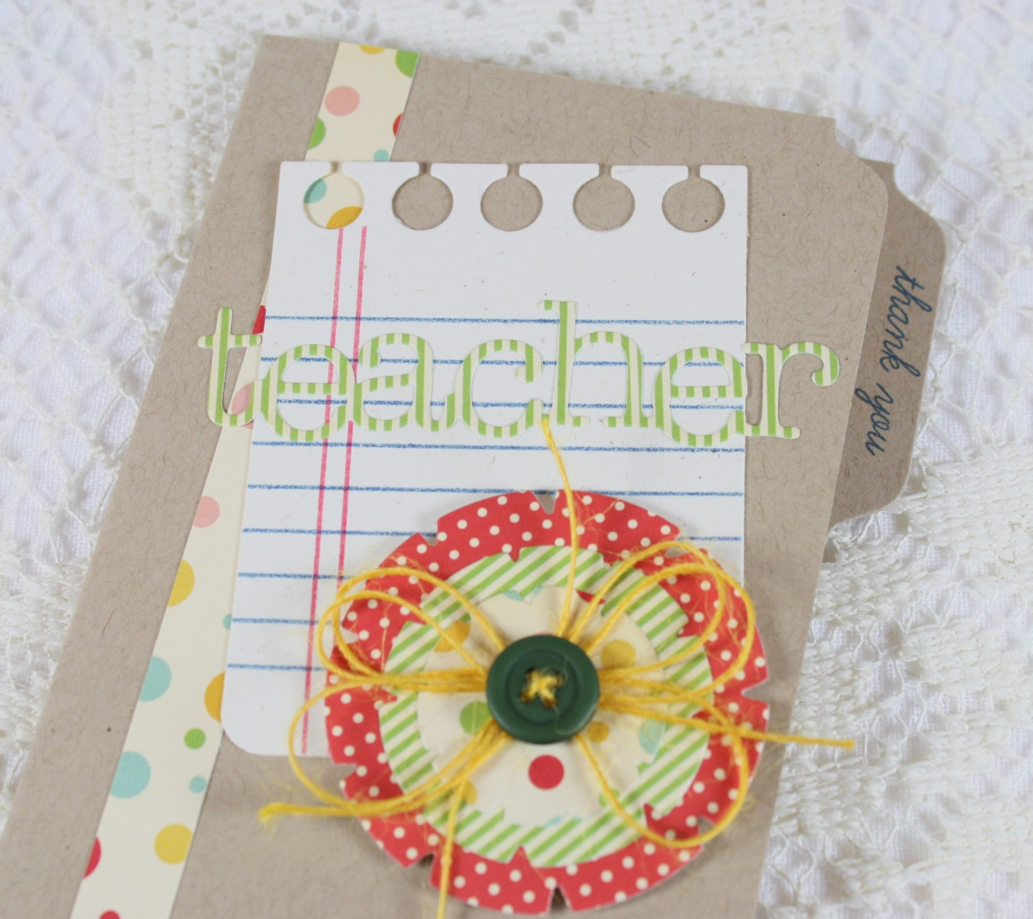 Handmade Greeting Cards For Teachers Thanking You Wonderful Pictures