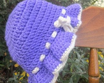 Purple Ruffle Sunhat