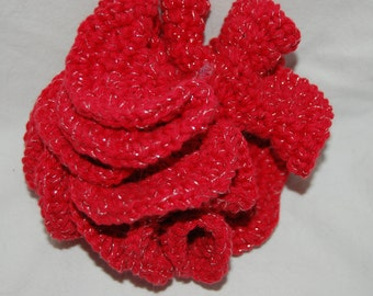 Handmade Red and Gold 3D Coral Decoration Baby Toy