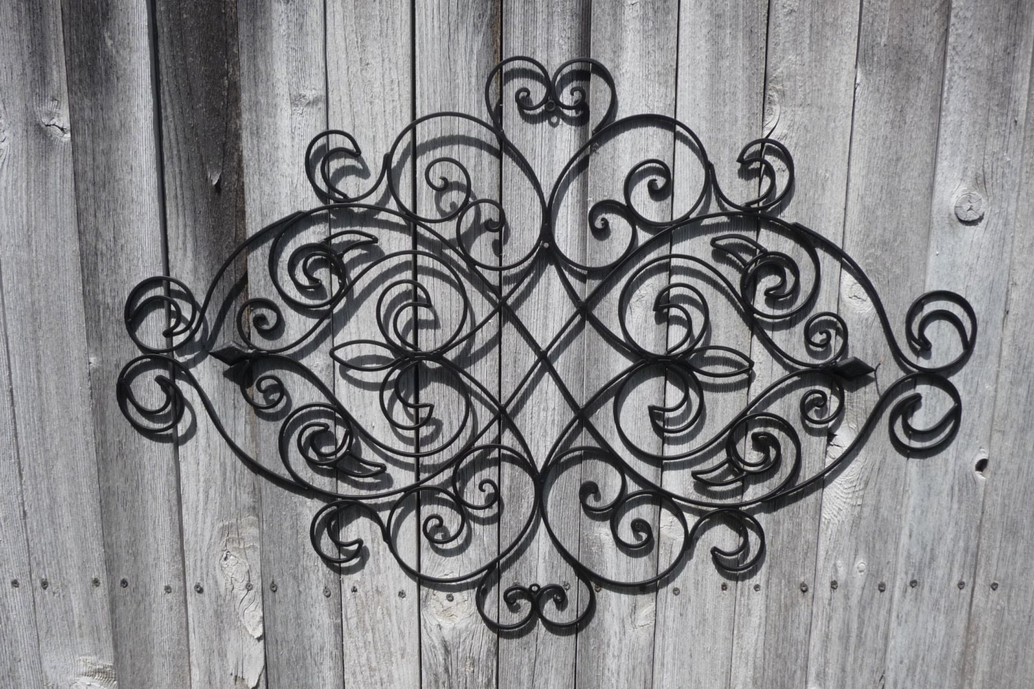 Wrought Iron Wall Decor Bedroom Headboard Black Fleur De