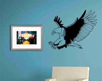 Bald eagle mural etsy for Eagle wall mural