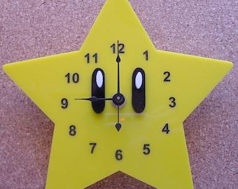 Super Mario Star clock
