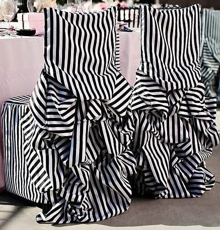 black and white striped bustle chair covers discount on larger orders zoom - Black And White Striped Chair
